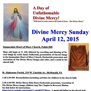 Unveiling of Sacred Artwork - Divine Mercy Sunday 2015